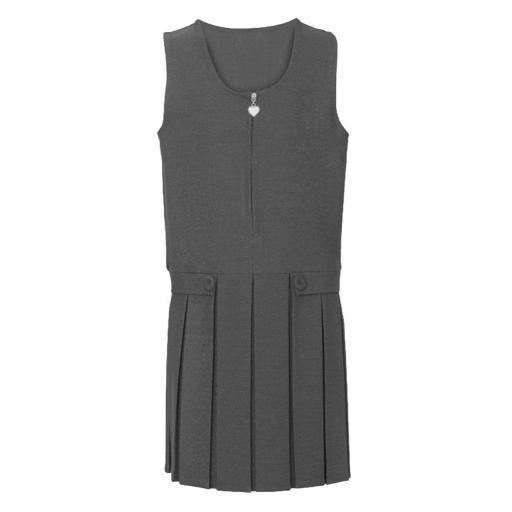 Box Pleat Pinafore Dress