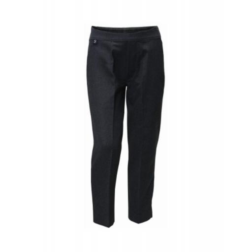 Boys Slim Fit Pull On Trousers