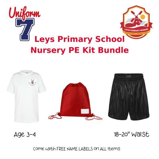 Leys Primary School Nursery/Reception PE Kit Bundle
