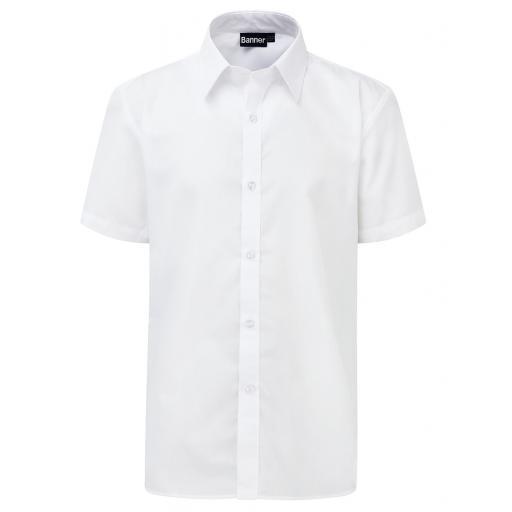 Boys Slim Fit Short Sleeve Shirt - Twin Pack