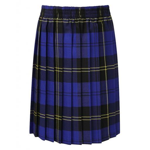 Dorothy Barley Infants School Skye Tartan Box Pleat Skirt